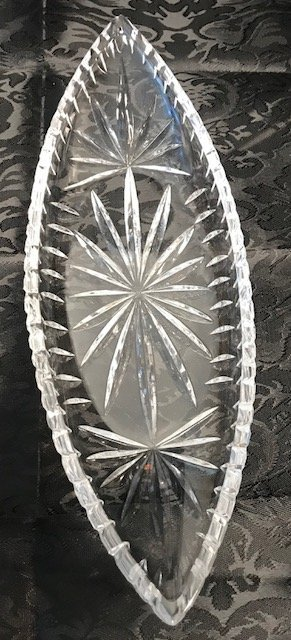 BAVARIA GERMAN  Lead crystal Oblong Tray - 2