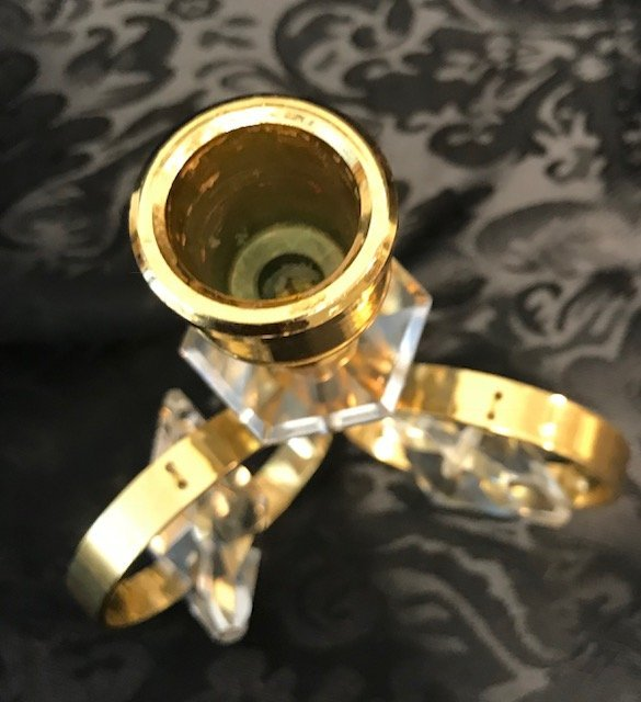 German Weinfurtner Gilt crystal candle Holder - 4