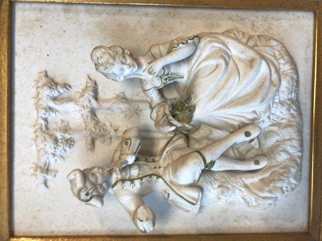 Dresden Alt Meissen-Dresden Plaque Figurine - 3