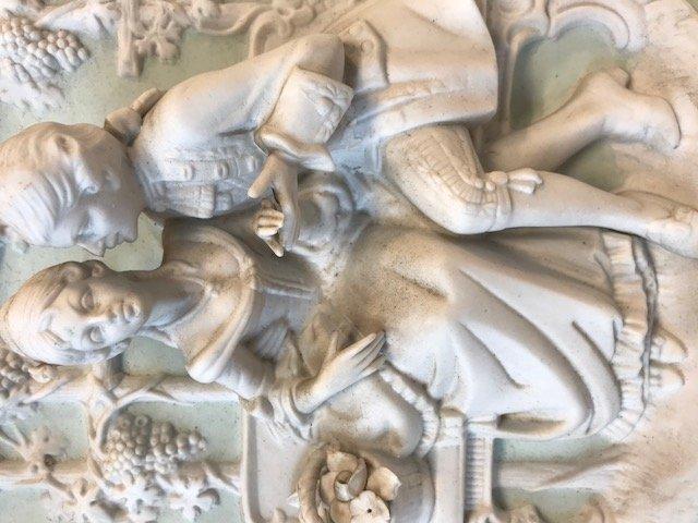 Dresden Alt Meissen- Castle Sanssouci 1750-60 Plaque - 3
