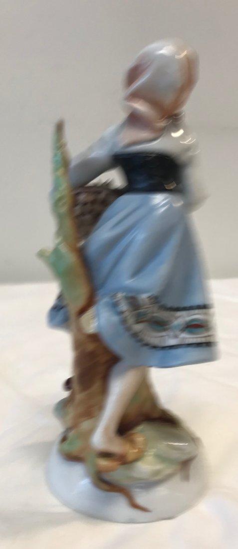 DRESDEN STYLE Porcelain girl floral figurine 6054 - 2