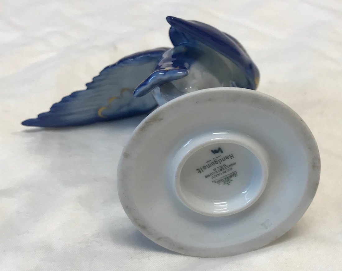 Vintage Rosenthal Blue Eagle Figurine 11 H - 5