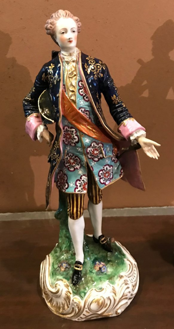Vintage Royal Derby Male Statue