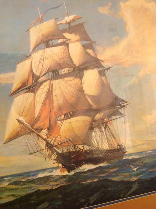 NAUTICAL SAIL BOAT LITHOGRAPH PRINT - 3