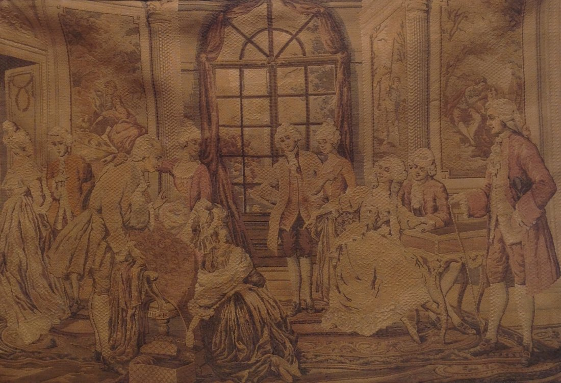 Victorian French Tapestry Wall Hanging 42 x 29