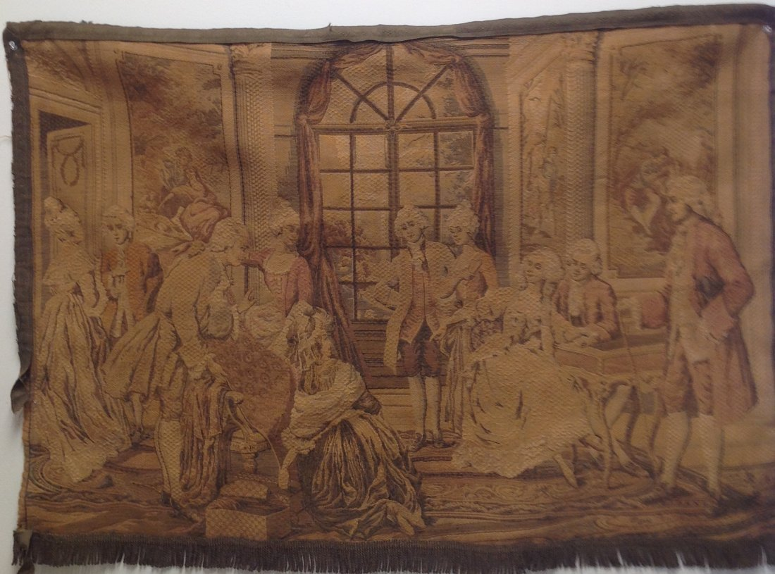 Victorian French Tapestry Wall Hanging 42 x 29 - 2