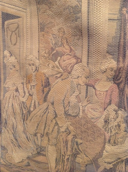 Victorian French Tapestry Wall Hanging 42 x 29 - 4