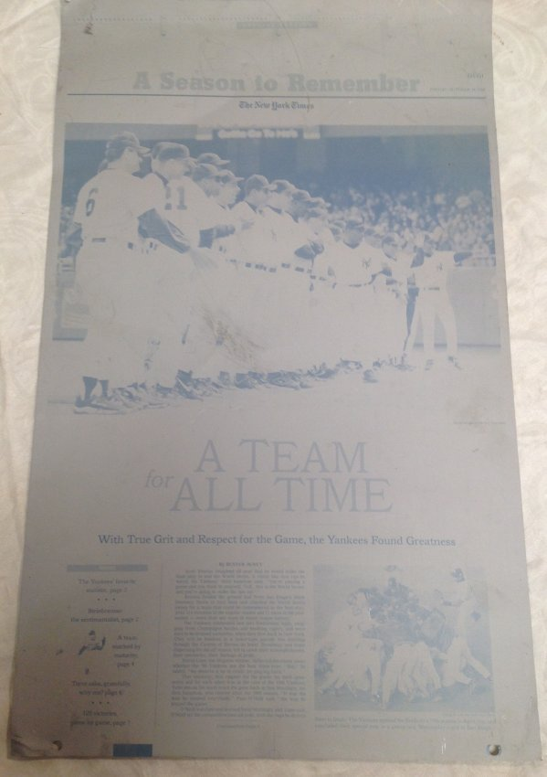 NY Times Metal Sheet Plate/A Season to Remember - 5
