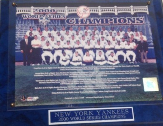 2000 NY Yankee Team Photo Framed