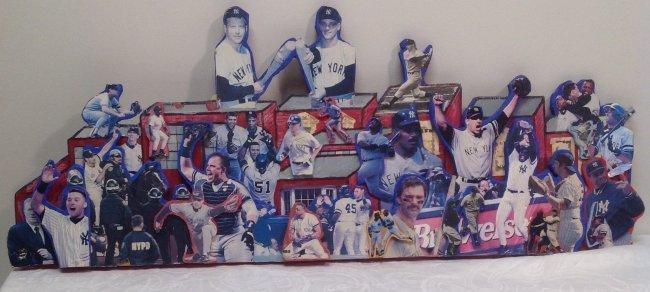 Vintage 3D NY Yankees Art Piece