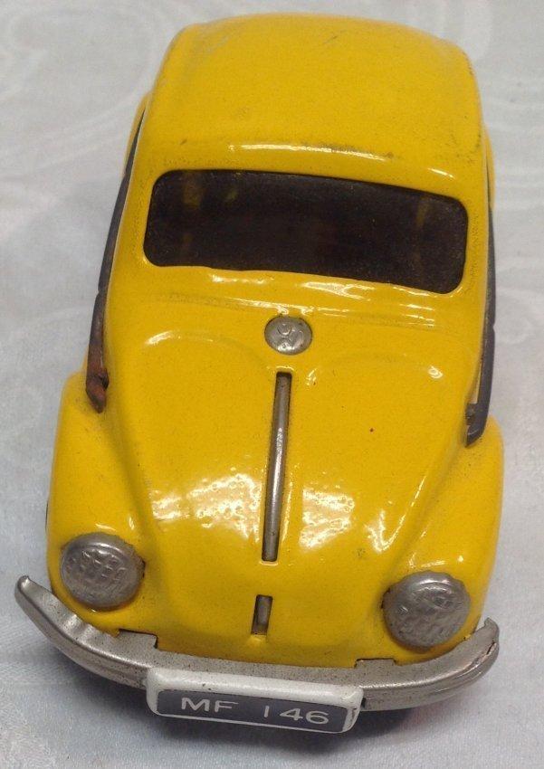 Vintage Yellow Volkswagen Toy Car