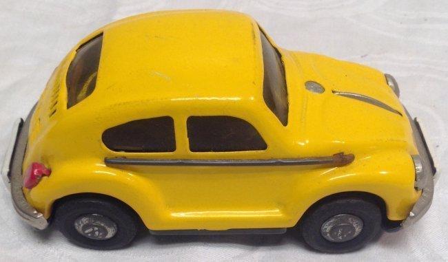 Vintage Yellow Volkswagen Toy Car - 2