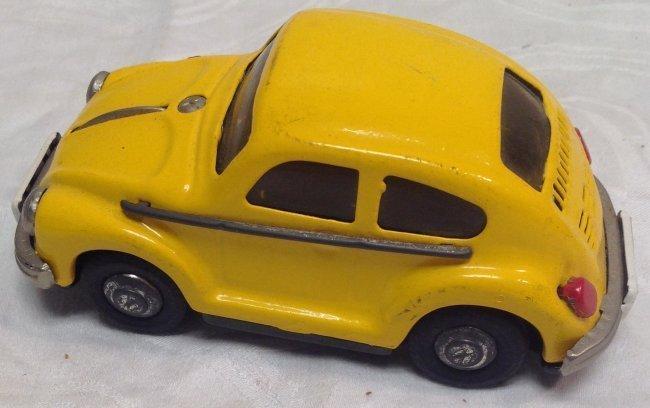 Vintage Yellow Volkswagen Toy Car - 3