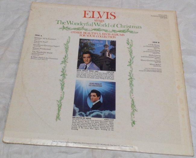 Elvis Wonderful World of Christmas Album - 2