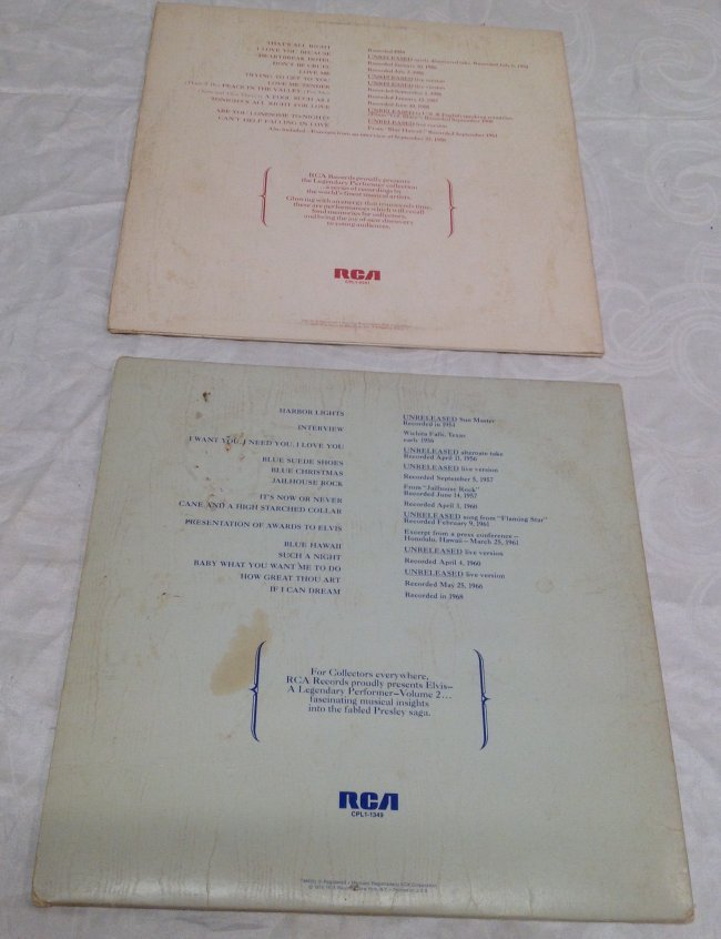 Elvis Legendary Performer Double Album - 2