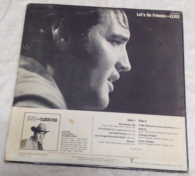 Elvis Lets Be Friends Album - 3