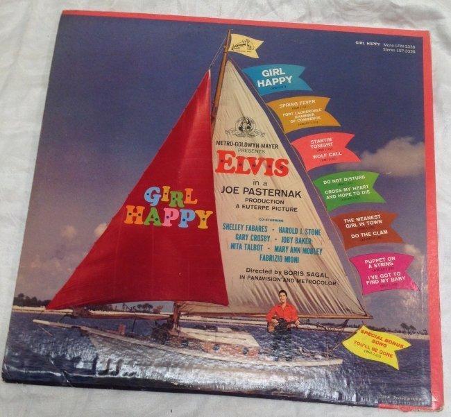 Vintage Elvis Girl Happy  Album - 2