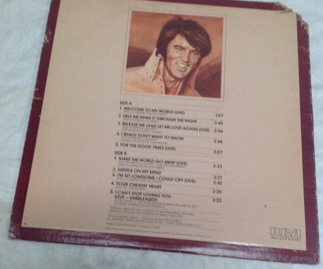 Elvis WELCOME TO MY WORLD Album - 3