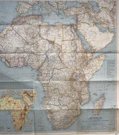 National Geographic Map Africa 1943