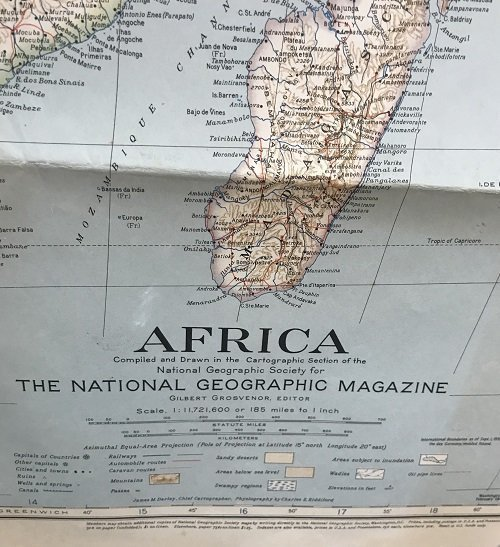 National Geographic Map Africa 1943 - 3