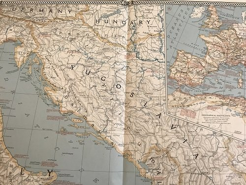 Classical Land Map of the Mediterranean 1940. - 3