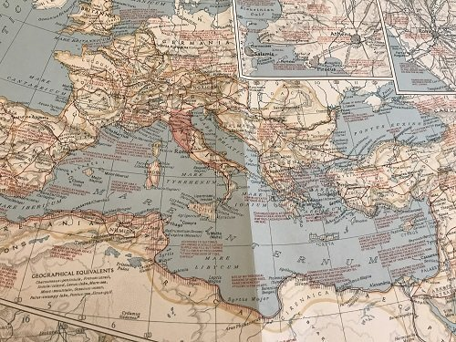 Classical Land Map of the Mediterranean 1940. - 5