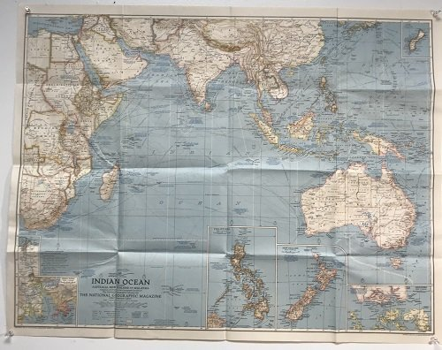 Indian Ocean Map 1941
