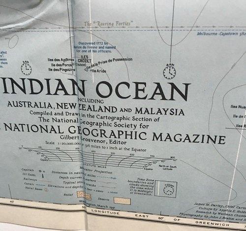 Indian Ocean Map 1941 - 2