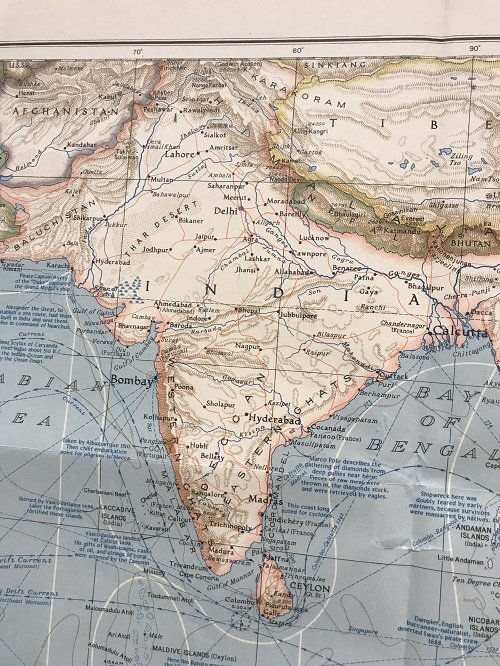 Indian Ocean Map 1941 - 5
