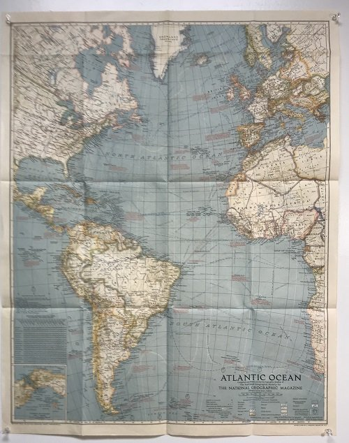 Atlantic Ocean Map 1939