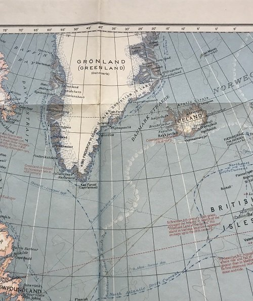 Atlantic Ocean Map 1939 - 5