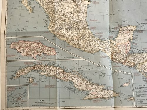 Mexico C. America, W. Indies Map 1939 - 3