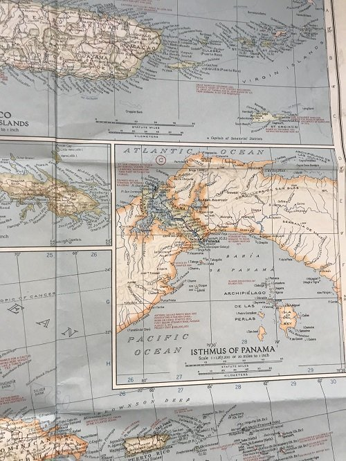 Mexico C. America, W. Indies Map 1939 - 6