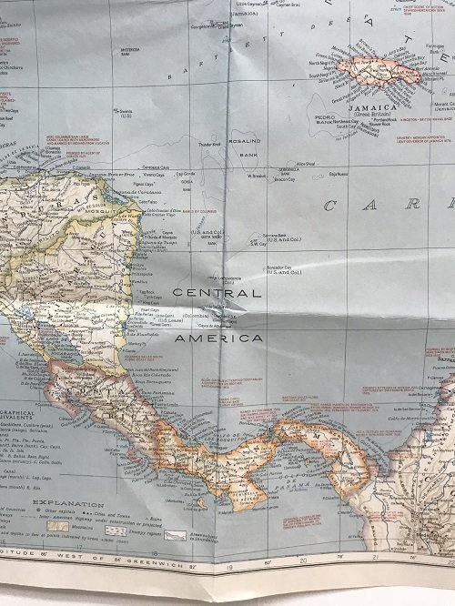 Mexico C. America, W. Indies Map 1939 - 8