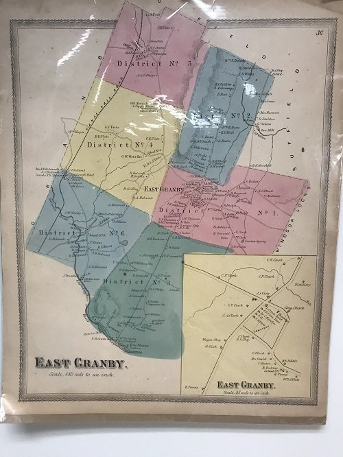 1869 Map of East Granby CT