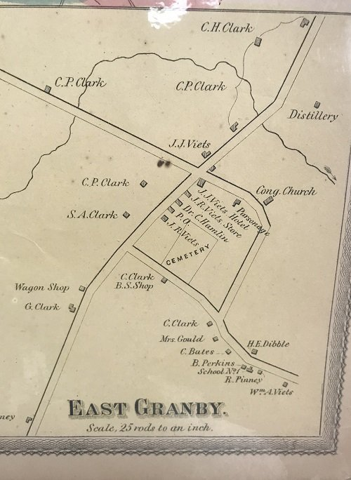1869 Map of East Granby CT - 3