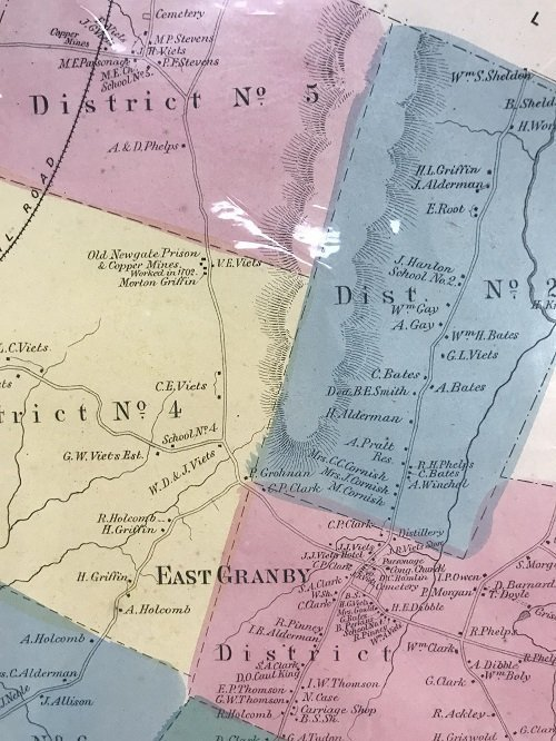 1869 Map of East Granby CT - 4