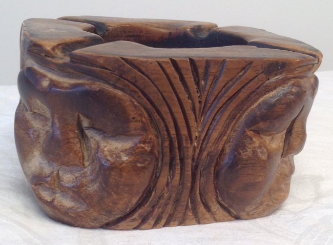 Asian Style Hand Carved Ash Tray