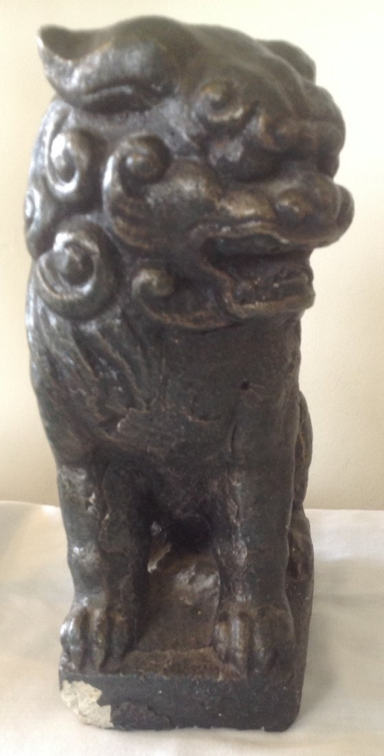 Ceramic Chinese Foo Dog Figurine 9 H