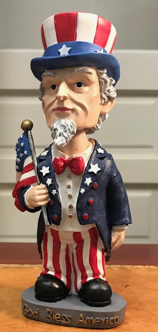 Uncle Sam wobble Doll 7 .5 H