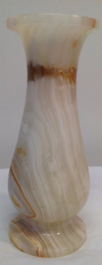 Gorgeous Heavy Marble flower vase.