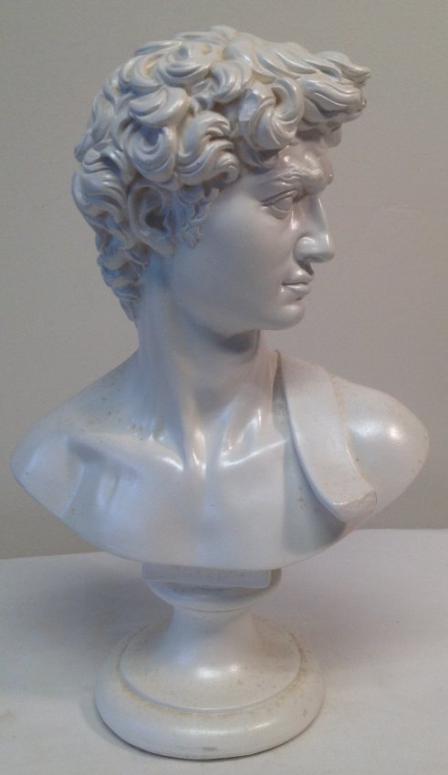 Greek / Roman Ceramic Bust 9.5 H