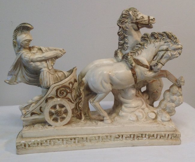 Roman Solider Riding Horse chariot NUMBERED 842