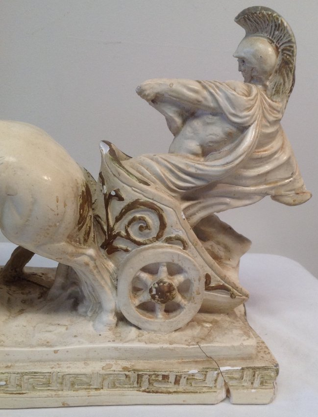 Roman Solider Riding Horse chariot NUMBERED 842 - 5