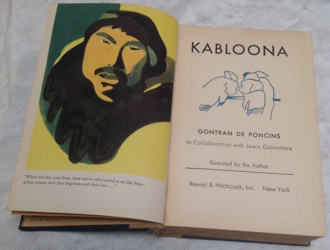Book: Gontran De Poncins. Kabloona - 4