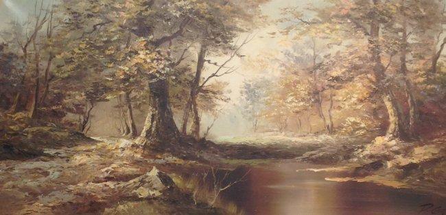 P GOZAR Oil Painting 55 x 31