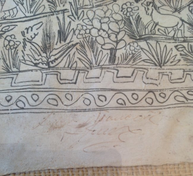 Signed Mexican Folk Art Illustration Etching 12 x 8 - 4