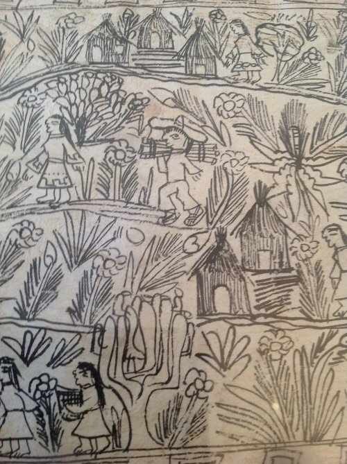 Signed Mexican Folk Art Illustration Etching 12 x 8 - 5
