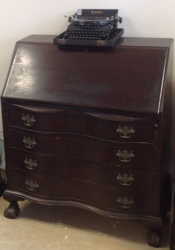 Antique Chippendale Secretary Desk 42 x 36