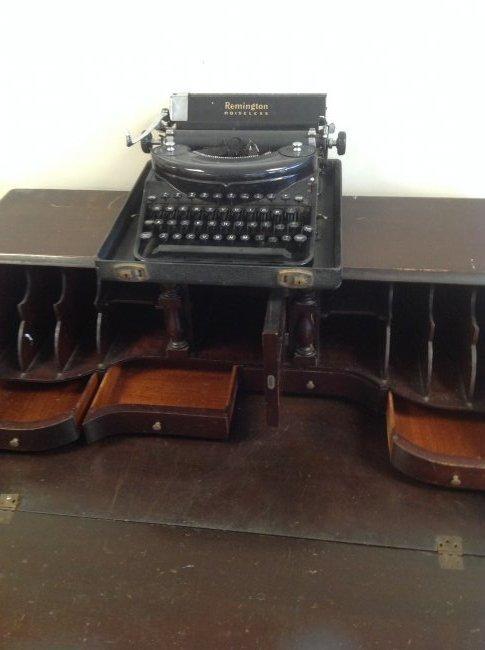 Antique Chippendale Secretary Desk 42 x 36 - 3
